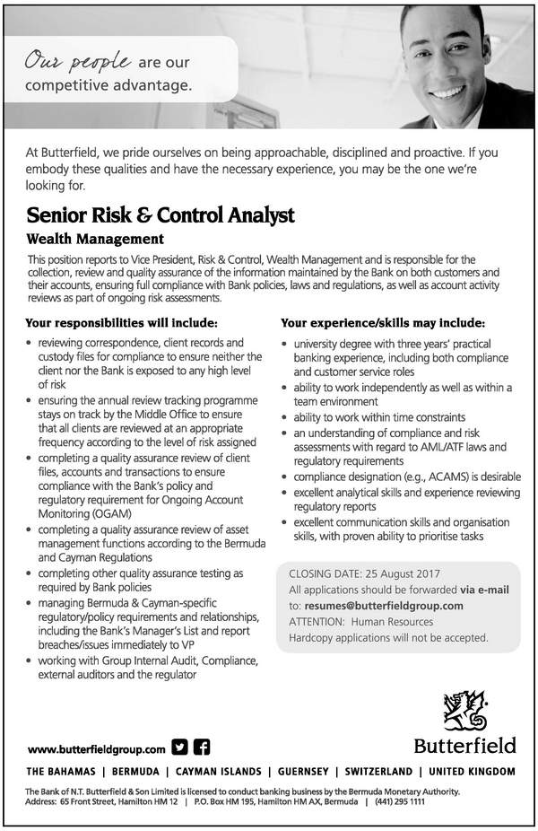 Senior Risk and Control Analyst
