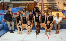 Gymnasts receive free equipment